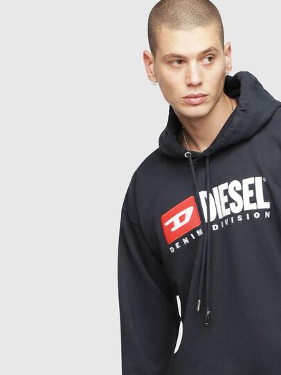 Diesel - S-DIVISION, Blu Scuro - Felpe - Image 3