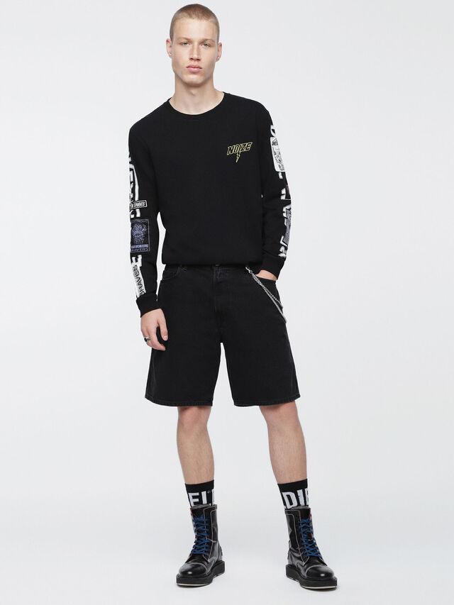 Diesel - D-WILLOH, Nero - Shorts - Image 4