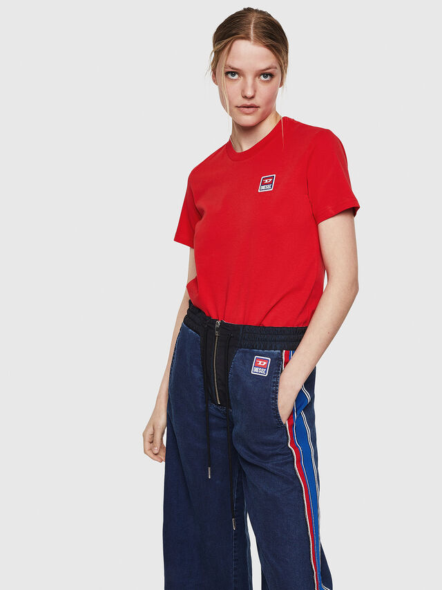Diesel - T-SILY-ZE, Rosso Fuoco - T-Shirts - Image 4