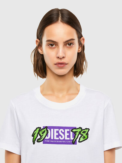 Diesel - T-SILY-K4, Bianco - T-Shirts - Image 3