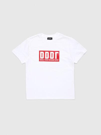 Diesel - TJUSTA9, Bianco - T-shirts e Tops - Image 1