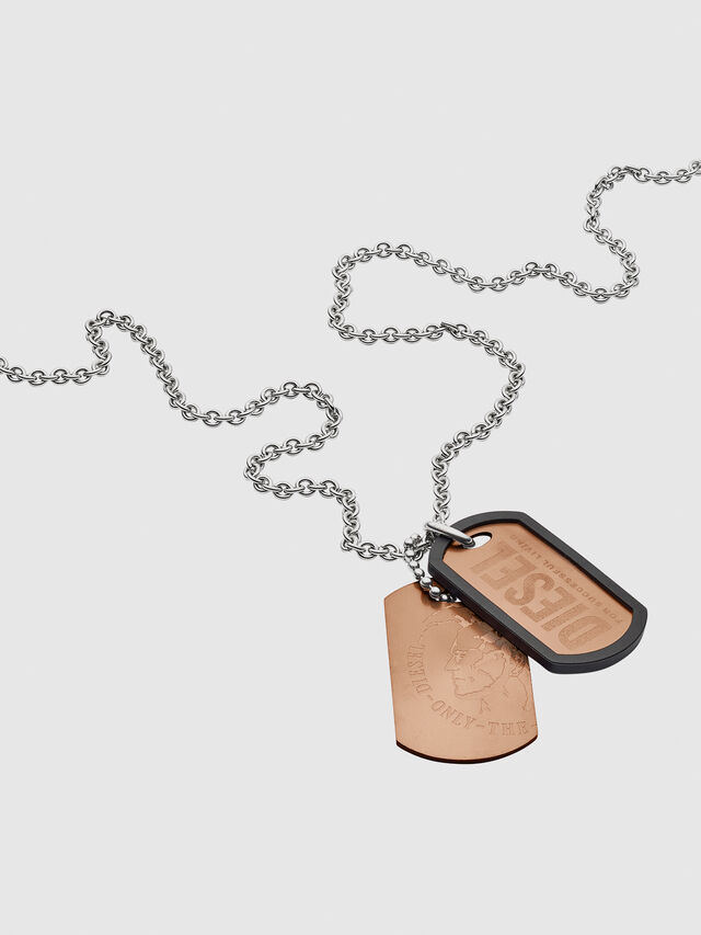 Diesel - NECKLACE DX1096, Bronzo - Collane - Image 2