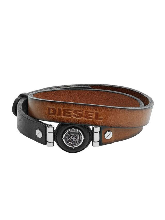 Diesel - BRACELET DX1021, Marrone - Braccialetti - Image 1