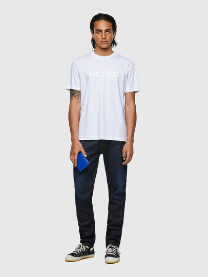 Diesel - T-JUST-B63, Bianco - T-Shirts - Image 4