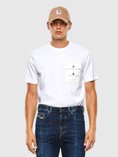 Diesel - T-TASK-SLITS, Bianco - T-Shirts - Image 5