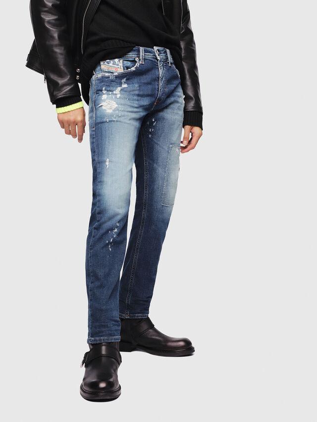 Diesel - Thommer JoggJeans 087AK, Blu medio - Jeans - Image 1