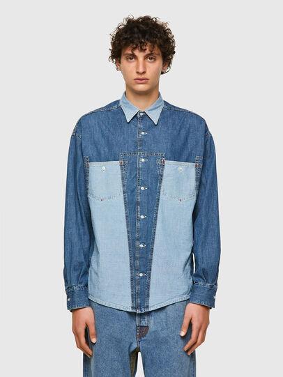Diesel - DxD-SHIRT, Blu medio - Camicie in Denim - Image 2