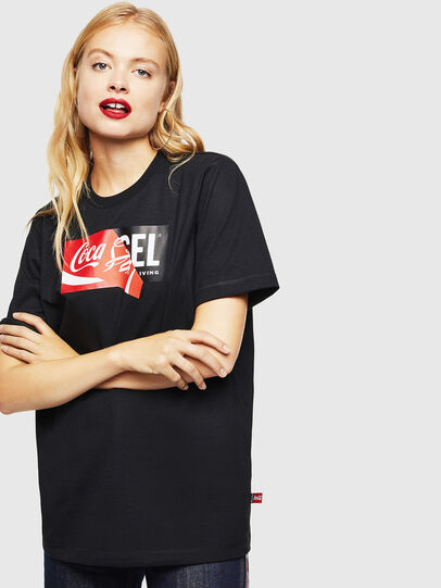 Diesel - CC-T-JUST-COLA, Nero - T-Shirts - Image 2