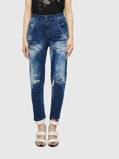 Diesel - Fayza JoggJeans 0099S, Blu Scuro - Jeans - Image 1