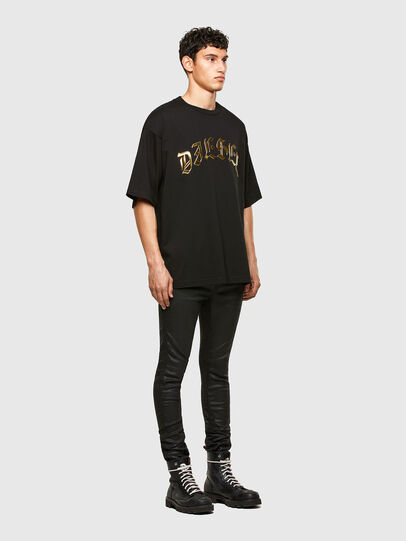 Diesel - T-BALL-A1, Nero - T-Shirts - Image 4
