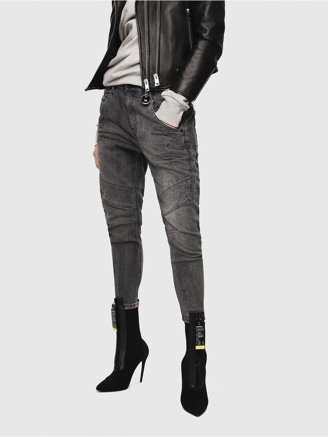 Diesel - Fayza JoggJeans 8880U, Nero/Grigio scuro - Jeans - Image 1