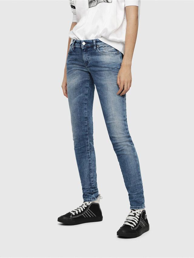 Diesel - Gracey JoggJeans 080AS, Blu medio - Jeans - Image 1