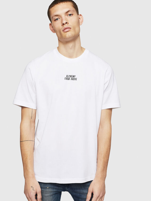 Diesel - T-JUST-A8, Bianco - T-Shirts - Image 1