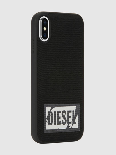 Diesel - BLACK DENIM IPHONE X CASE, Nero - Cover - Image 6