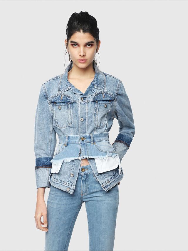 Diesel - DE-NALINI, Blu Jeans - Giacche in denim - Image 6