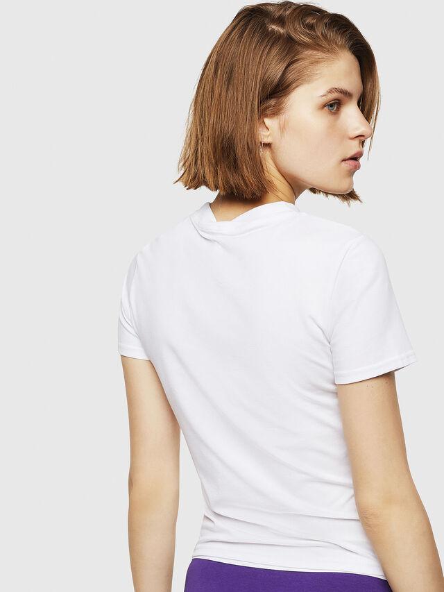 Diesel - UFTEE-ROUNDFEM, Bianco - T-Shirts - Image 2