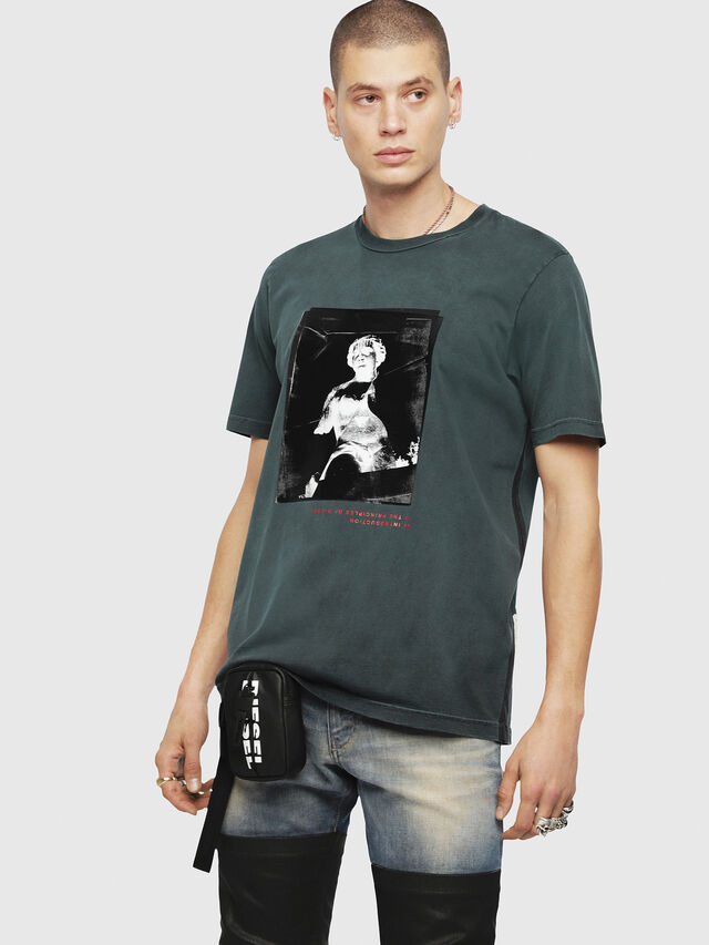 Diesel - T-JUST-YS, Verde Scuro - T-Shirts - Image 1