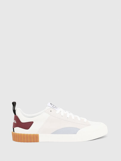 Diesel - S-BULLY LC, Bianco/Rosso - Sneakers - Image 1