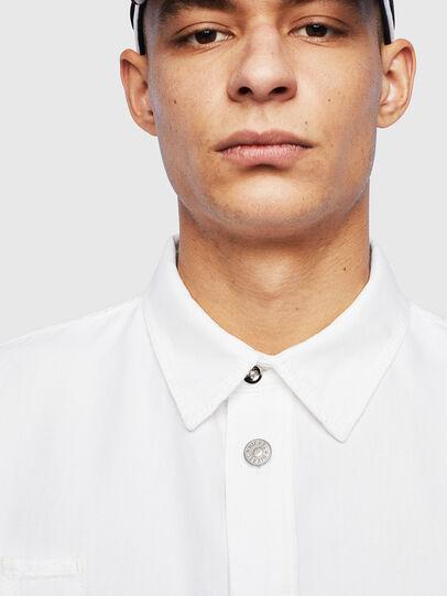 Diesel - D-FLOX, Bianco - Camicie in Denim - Image 3