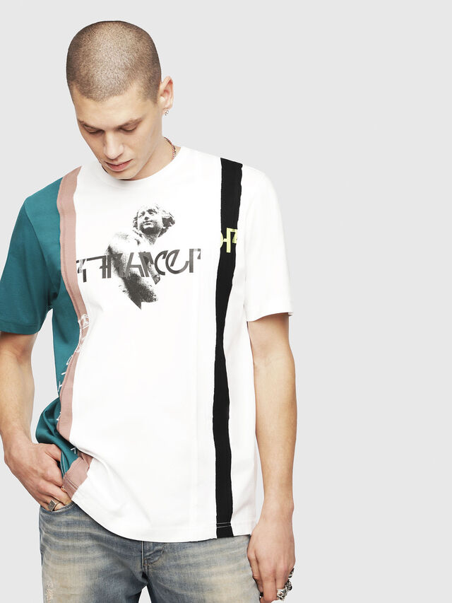 Diesel - T-JUST-SPACE-A, Bianco - T-Shirts - Image 1