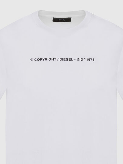 Diesel - T-SILY-COPY, Bianco - T-Shirts - Image 3