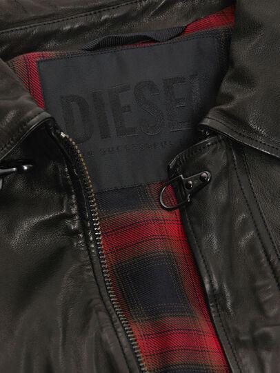 Diesel - L-LUC, Nero - Giacche di pelle - Image 5