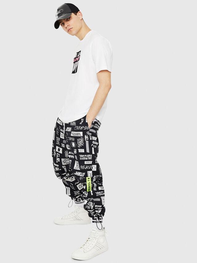 Diesel - T-JUST-Y23, Bianco - T-Shirts - Image 5