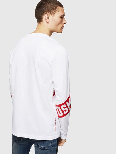 Diesel - T-JUST-LS-STAR, Bianco - T-Shirts - Image 2