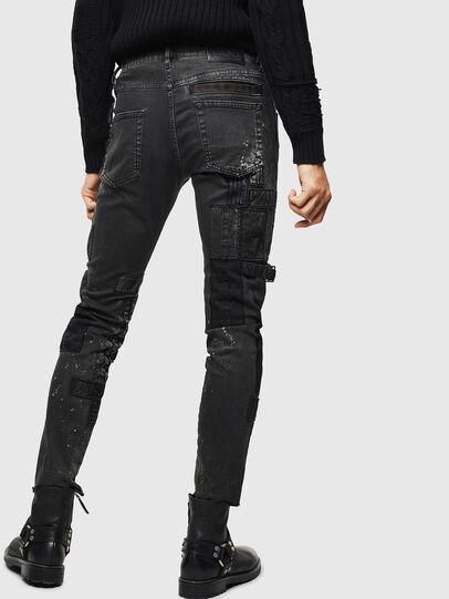 Diesel - D-Strukt 0093P, Nero/Grigio scuro - Jeans - Image 2