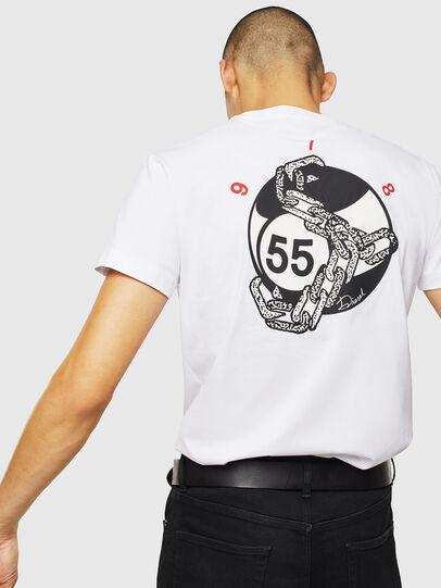 Diesel - T-DIEGO-J16, Bianco - T-Shirts - Image 4