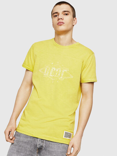 Diesel - T-DIEGO-CUT-A, Giallo - T-Shirts - Image 1