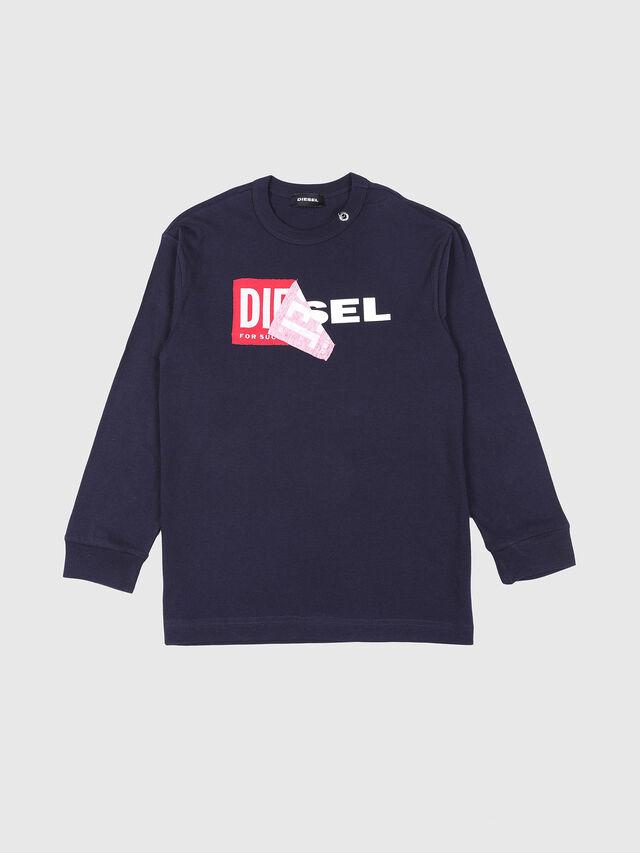 Diesel - TEDRI OVER, Blu Navy - T-shirts e Tops - Image 1