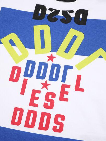 Diesel - TOLIB-R, Bianco/Blu - T-shirts e Tops - Image 3