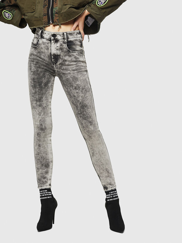 Slandy High 069GQ, Grigio Chiaro - Jeans