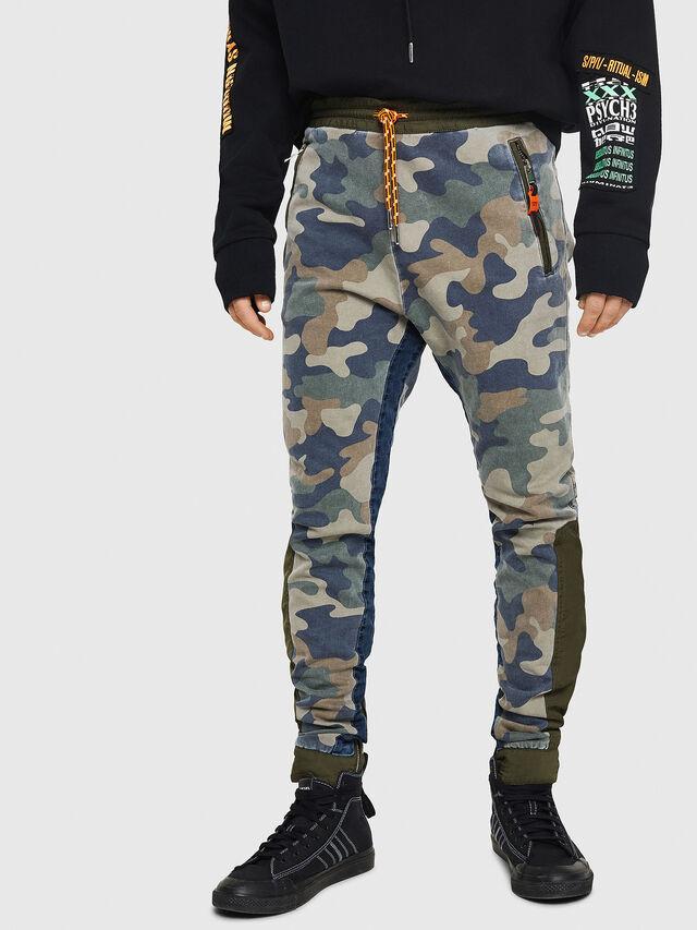 Diesel - D-Eeley JoggJeans 0GAUU, Verde Camo - Jeans - Image 1