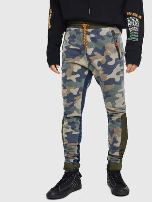 D-Eeley JoggJeans 0GAUU, Verde Camo - Jeans
