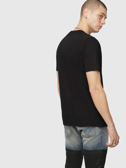 Diesel - T-JUST-DIVISION, Nero - T-Shirts - Image 2