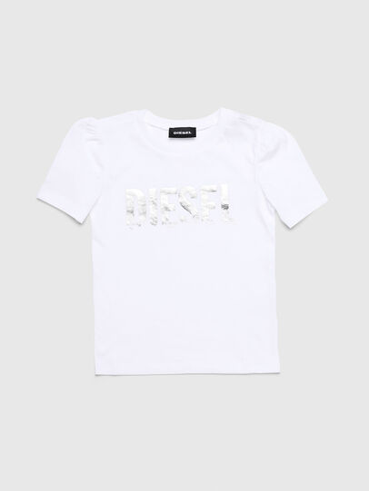 Diesel - TRALLYB-R, Bianco - T-shirts e Tops - Image 1