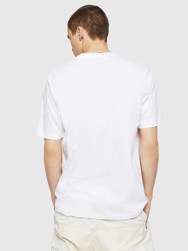 Diesel - T-JUST-COPY, Bianco - T-Shirts - Image 2