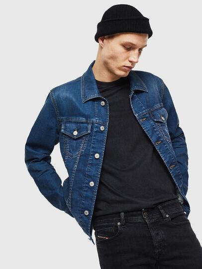 Diesel - NHILL JOGGJEANS, Blu Jeans - Giacche in denim - Image 4