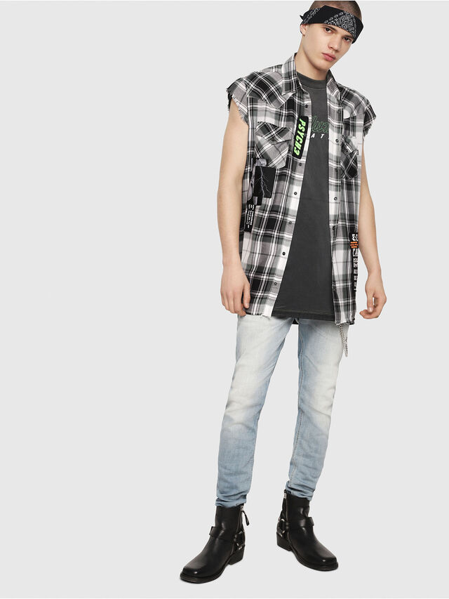 Diesel - S-EAST-LESS, Nero/Bianco - Camicie - Image 6