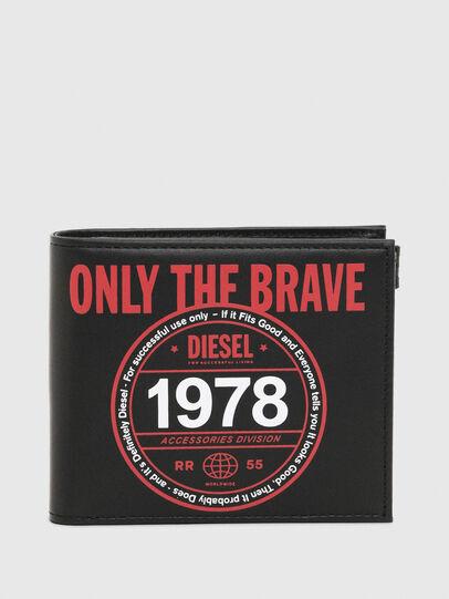 Diesel - HIRESH S MC, Nero/Rosso - Portafogli Piccoli - Image 1