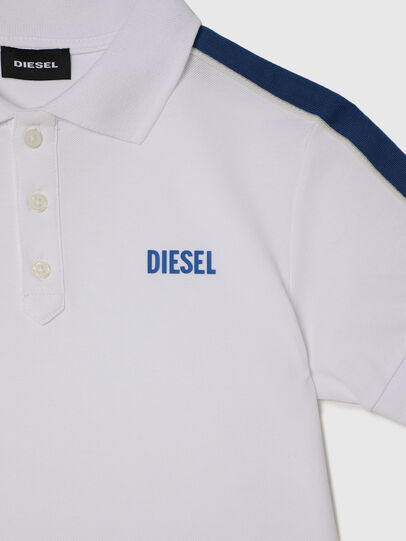 Diesel - TRALFYS1, Bianco/Blu - T-shirts e Tops - Image 3
