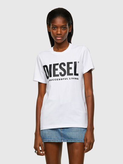 Diesel - T-SILY-ECOLOGO, Bianco - T-Shirts - Image 1