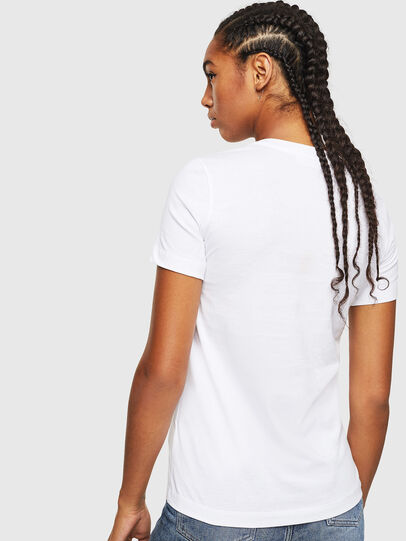 Diesel - T-SILY-YD, Bianco - T-Shirts - Image 2