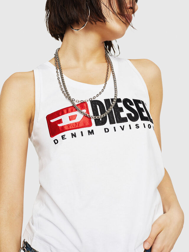 Diesel - T-SYLKY, Bianco - Tops - Image 3