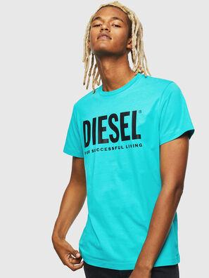 T-DIEGO-LOGO, Azzurro - T-Shirts
