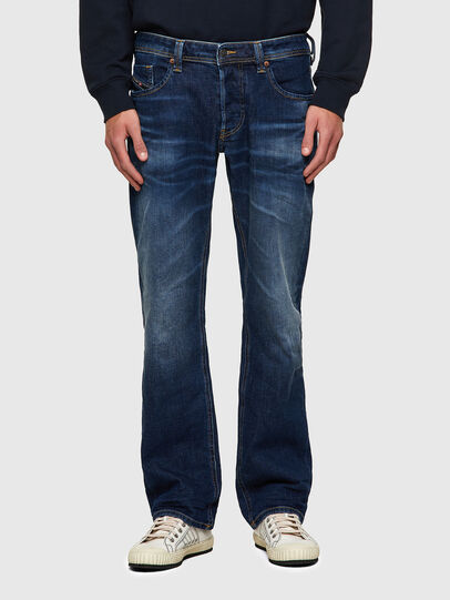 Diesel - Larkee 009MI, Blu Scuro - Jeans - Image 1