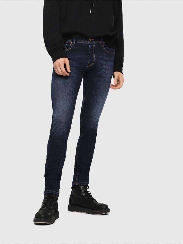 Diesel - Sleenker 084RI, Blu Scuro - Jeans - Image 1