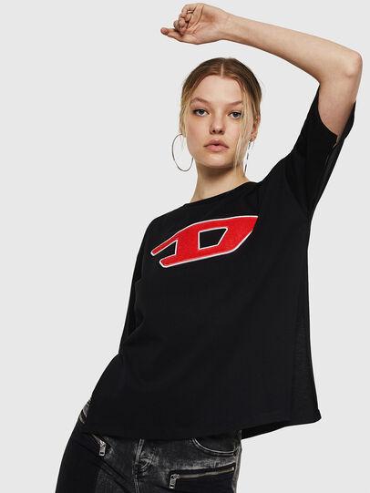 Diesel - T-JACKY-I, Nero - T-Shirts - Image 1